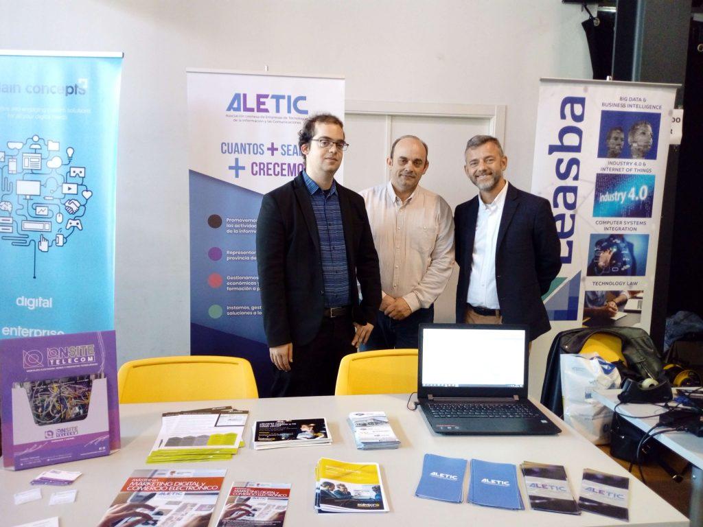 Miembros de ALETIC en Leon4U!