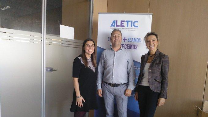 ALETIC mantiene una reunión con la presidenta de Cruz Roja León