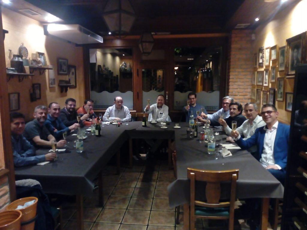 Miembros de ALETIC en la cena de navidad.