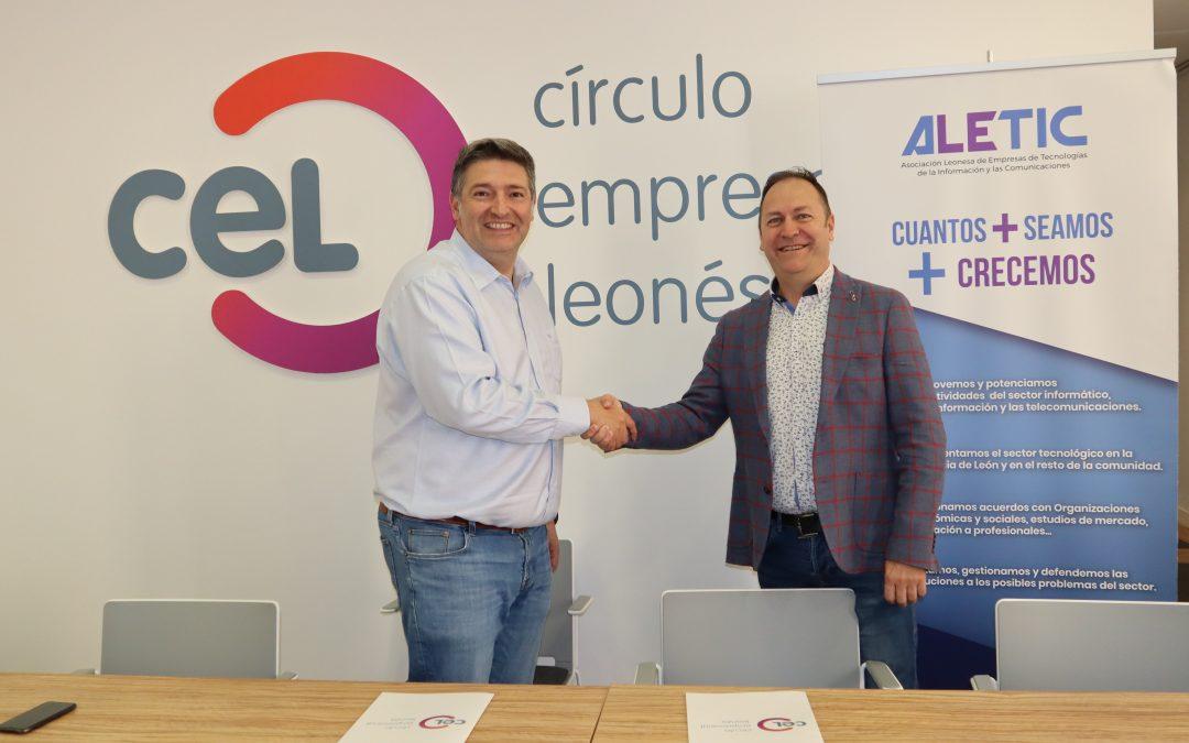 La Asociación Leonesa de Empresas de Tecnologías de la Información y las Comunicaciones firma un convenio de adhesión para integrarse en el CEL