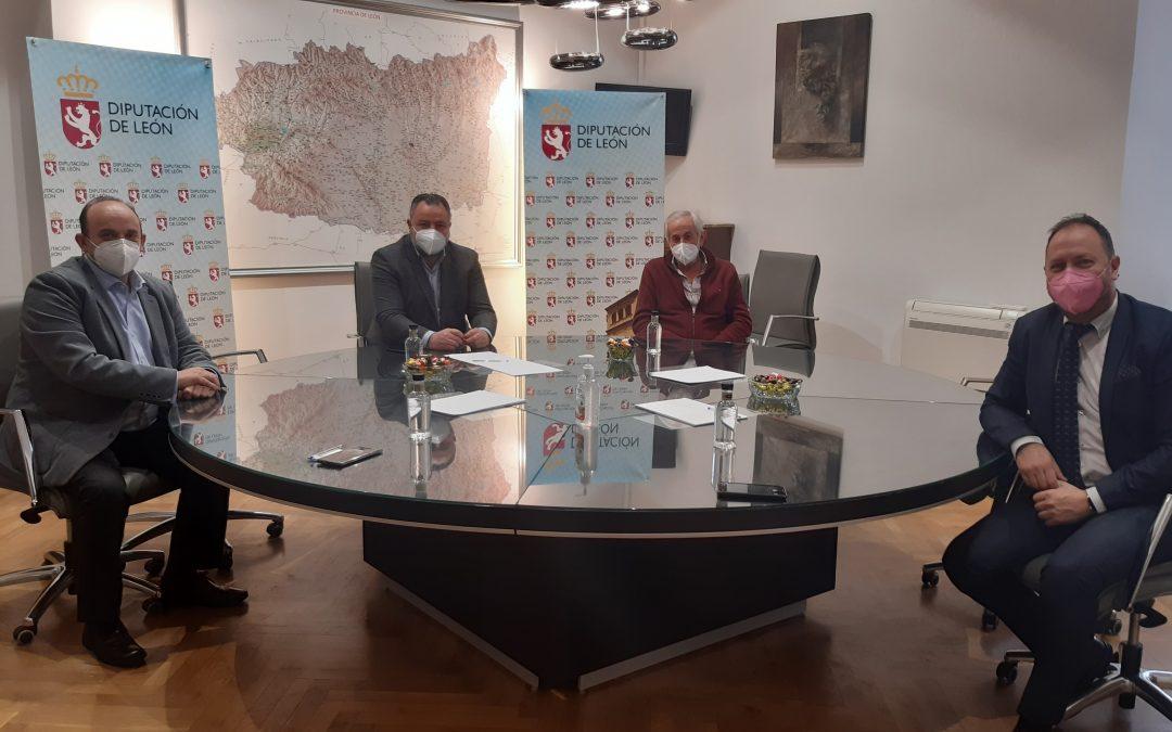 Los responsables de ALETIC se reúnen con el presidente de la Diputación